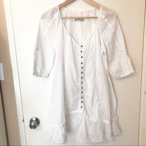 Zara button down white blouse